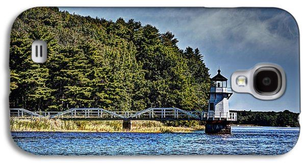 Mid-coast Maine Galaxy S4 Cases - Doubling Point Lighthouse Galaxy S4 Case by Deborah Klubertanz