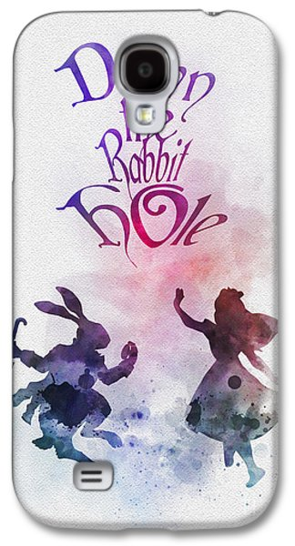 Animation Galaxy S4 Cases - Down the Rabbit Hole Galaxy S4 Case by Rebecca Jenkins