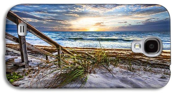 Sanddunes Galaxy S4 Cases - Down to the Shore Galaxy S4 Case by Debra and Dave Vanderlaan