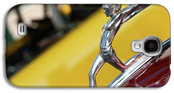 Hood Ornament Photographs Galaxy S4 Cases - Downhill Racer Galaxy S4 Case by Rebecca Cozart