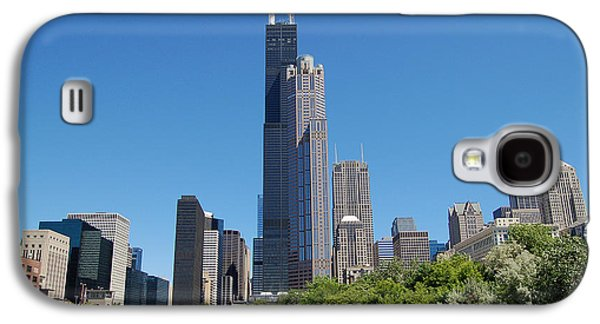 River View Galaxy S4 Cases - Downtown Chicago Skyline - View Along the River Galaxy S4 Case by Suzanne Gaff