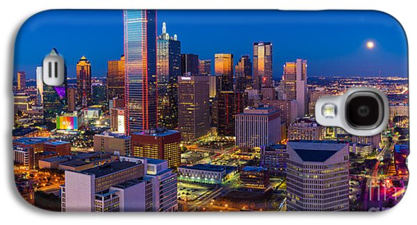 Downtown Dallas Panorama Galaxy S4 Case by Inge Johnsson