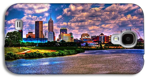 Surreal Landscape Galaxy S4 Cases - Downtown Indianapolis Skyline Galaxy S4 Case by David Haskett