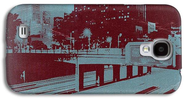 Downtown Digital Galaxy S4 Cases - Downtown LA Galaxy S4 Case by Naxart Studio