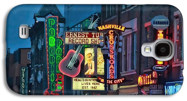 Downtown Nashville At Dusk Galaxy S4 Case by Dan Sproul