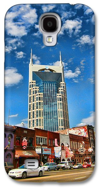 Downtown Nashville Blue Sky Galaxy S4 Case by Dan Sproul