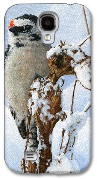 Downy Woodpecker  Galaxy S4 Case by Ken Everett