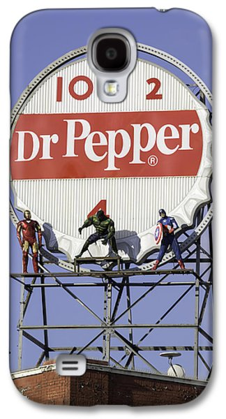 Crime Fighter Galaxy S4 Cases - Dr Pepper and the Avengers Galaxy S4 Case by Teresa Mucha