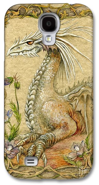 Fantasy Mixed Media Galaxy S4 Cases - Dragon Galaxy S4 Case by Morgan Fitzsimons
