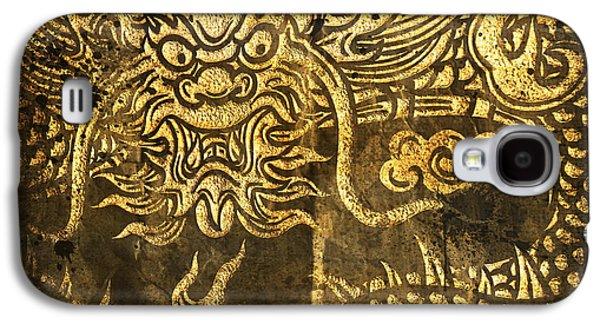 Ancient Galaxy S4 Cases - Dragon Pattern Galaxy S4 Case by Setsiri Silapasuwanchai
