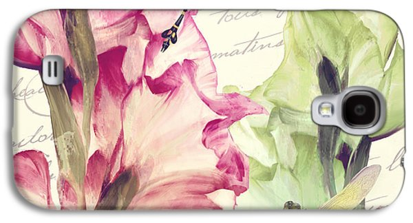 Gladiolas Galaxy S4 Cases - Dragonfly Morning I Galaxy S4 Case by Mindy Sommers