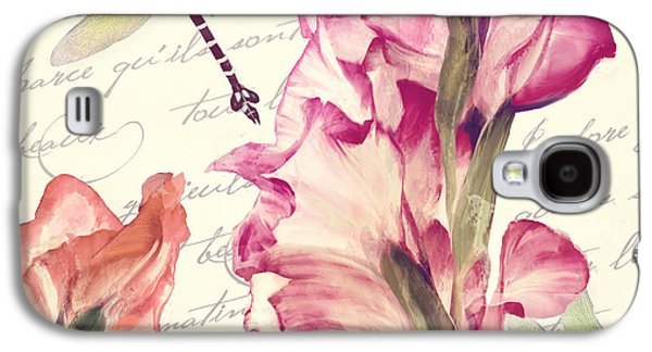 Gladiolas Galaxy S4 Cases - Dragonfly Morning II Galaxy S4 Case by Mindy Sommers