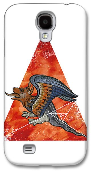 Ancient Galaxy S4 Cases - Dragonometry 2 Galaxy S4 Case by Terry Fleckney