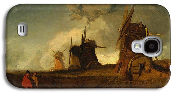 Drainage Mills In The Fens, Croyland, Lincolnshire Galaxy S4 Case by John Sell Cotman