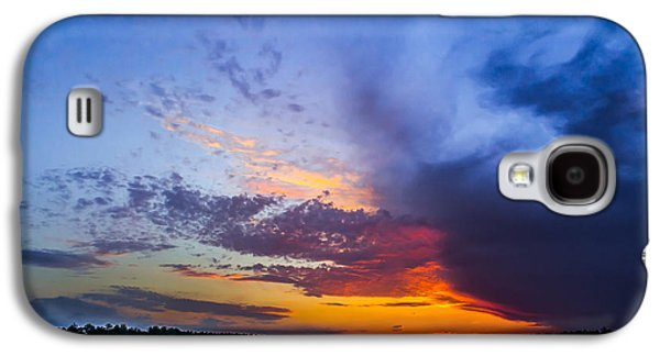 Sun Galaxy S4 Cases - Dramatic Clouds at Sunset Galaxy S4 Case by Shelby  Young