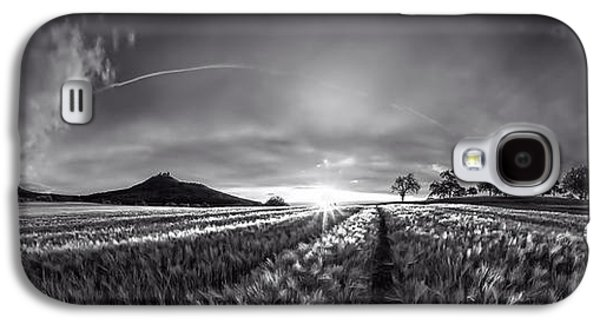 Surreal Landscape Galaxy S4 Cases - Dramatic Sunset Black And White Galaxy S4 Case by Jonathan Sautter