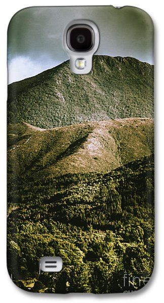 Dramatic View On Mount Zeehan Against Stormy Cloud Galaxy S4 Case by Jorgo Photography - Wall Art Gallery