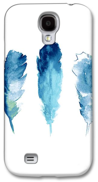 Dream Catcher Feathers Painting Galaxy S4 Case by Joanna Szmerdt