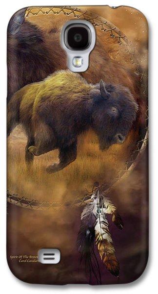 Dream Catcher - Spirit Of The Brown Buffalo Galaxy S4 Case by Carol Cavalaris