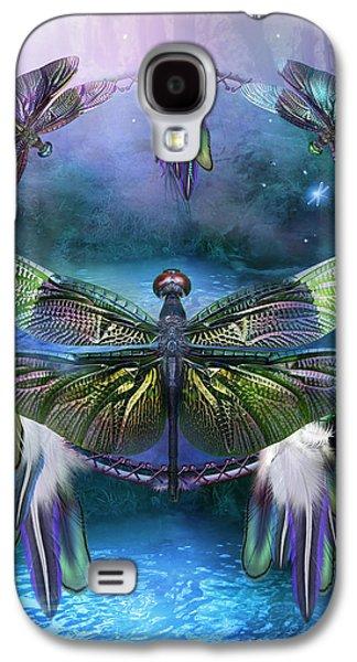 Spirits Galaxy S4 Cases - Dream Catcher - Spirit Of The Dragonfly Galaxy S4 Case by Carol Cavalaris