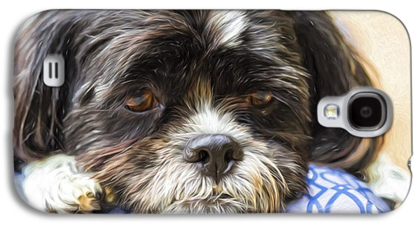 Dogs Digital Galaxy S4 Cases - Dreaming of You Galaxy S4 Case by Terry J Alcorn