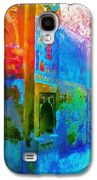 Sunset Abstract Galaxy S4 Cases - Dreamy Turquoise Abstract Arches Sun Fort Rajasthan India 2j Galaxy S4 Case by Sue Jacobi