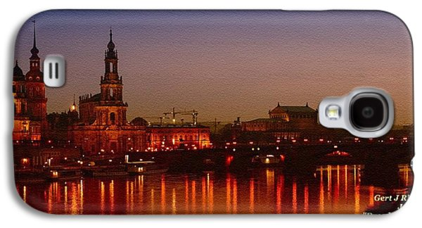 Abstract Digital Paintings Galaxy S4 Cases - Dresden Evening Lights on the River Catus 1 no. 1 H a Galaxy S4 Case by Gert J Rheeders