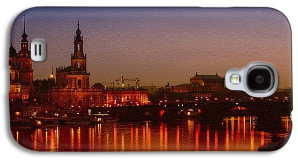Abstract Digital Paintings Galaxy S4 Cases - Dresden Evening Lights on the River Catus 1 no. 1 H b Galaxy S4 Case by Gert J Rheeders