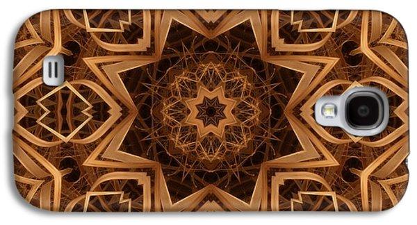 Kaleidoscope Galaxy S4 Cases - Dried Grass Mandala Galaxy S4 Case by Lyle Hatch