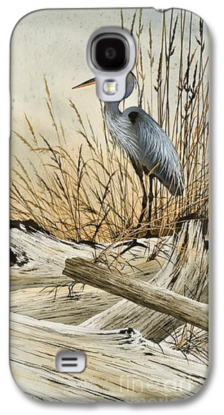 Heron Paintings Galaxy S4 Cases - Driftwood Splendor Galaxy S4 Case by James Williamson