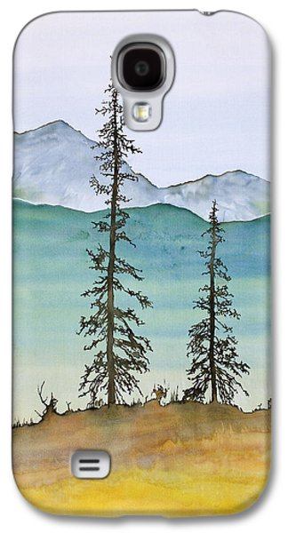 Dye Tapestries - Textiles Galaxy S4 Cases - Drive to Eagle and sketching on a bumpy road Galaxy S4 Case by Carolyn Doe