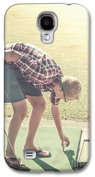 Basket Ball Game Galaxy S4 Cases - Driving range golf Galaxy S4 Case by Ryan Jorgensen