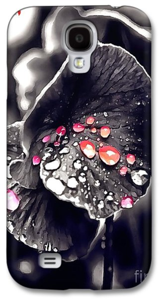 Catherine White Digital Galaxy S4 Cases - Drops Of Jupiter in Thick Paint Galaxy S4 Case by Catherine Lott