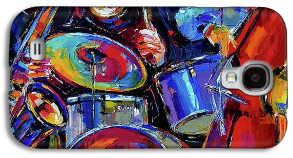 Jazz Galaxy S4 Cases - Drums And Friends Galaxy S4 Case by Debra Hurd