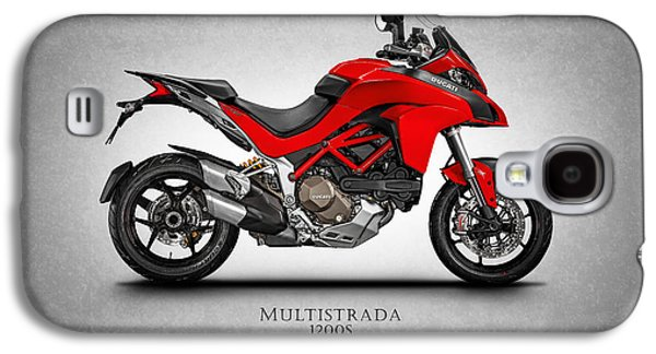Bicycle Photographs Galaxy S4 Cases - Ducati Multistrada Galaxy S4 Case by Mark Rogan