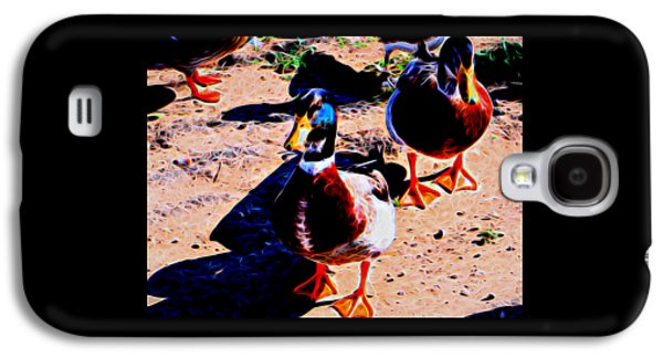 Nature Abstract Galaxy S4 Cases - Ducks In Abstract 8 Galaxy S4 Case by Kristalin Davis
