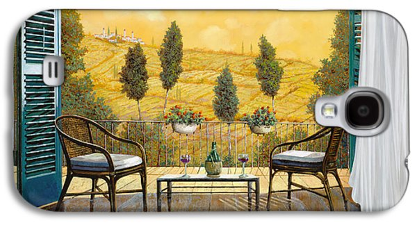 Chair Galaxy S4 Cases - due bicchieri di Chianti Galaxy S4 Case by Guido Borelli