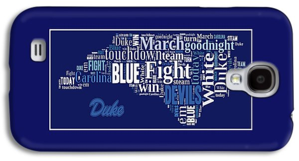 Duke University Fight Song Products Galaxy S4 Case by Paulette B Wright