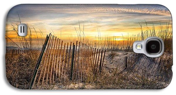 Sanddunes Galaxy S4 Cases - Dune Glow Galaxy S4 Case by Debra and Dave Vanderlaan