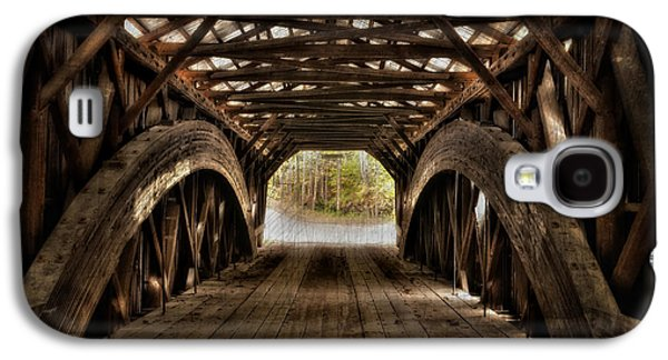 Interior Scene Photographs Galaxy S4 Cases - Durgin Covered Bridge - HDR  Galaxy S4 Case by Thomas Schoeller