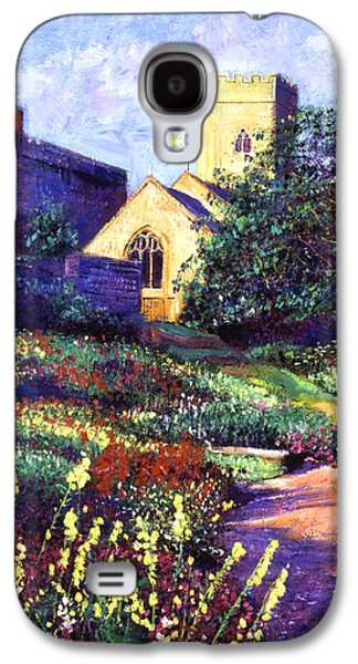 Pathway Paintings Galaxy S4 Cases - Dusk At The Abbey Galaxy S4 Case by David Lloyd Glover