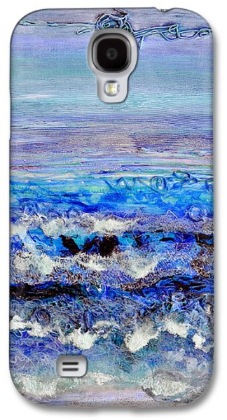 Beach Landscape Reliefs Galaxy S4 Cases - Dusk Tide Galaxy S4 Case by Regina Valluzzi