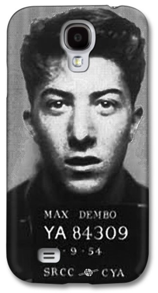 Police Paintings Galaxy S4 Cases - Dustin Hoffman Mug Shot For Film Vertical Galaxy S4 Case by Tony Rubino