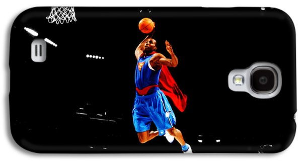 Julius Erving Galaxy S4 Cases - Dwight Howard Superman Dunk Galaxy S4 Case by Brian Reaves
