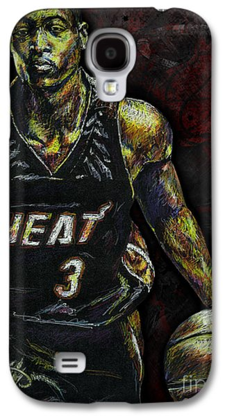 Valuable Galaxy S4 Cases - Dwyane Wade Galaxy S4 Case by Maria Arango