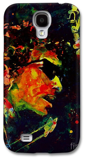 Bob Dylan Paintings Galaxy S4 Cases - Dylan Galaxy S4 Case by Linda Halom