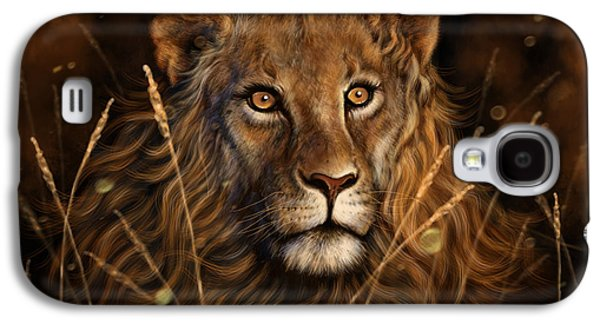 Wildlife Digital Galaxy S4 Cases - Dylans Lion Galaxy S4 Case by Andre Koekemoer