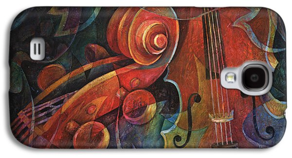Dynamic Duo - Cello And Scroll Galaxy S4 Case by Susanne Clark