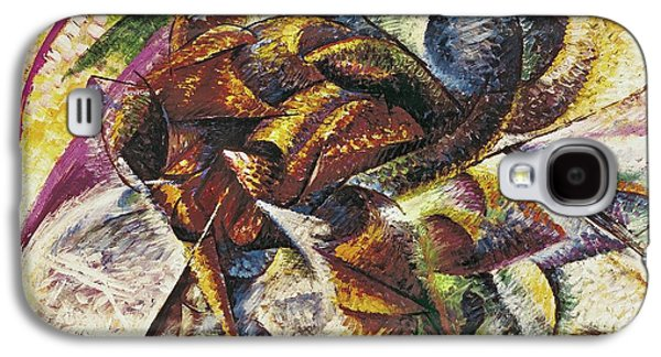 Race Galaxy S4 Cases - Dynamism of a Cyclist Galaxy S4 Case by Umberto Boccioni