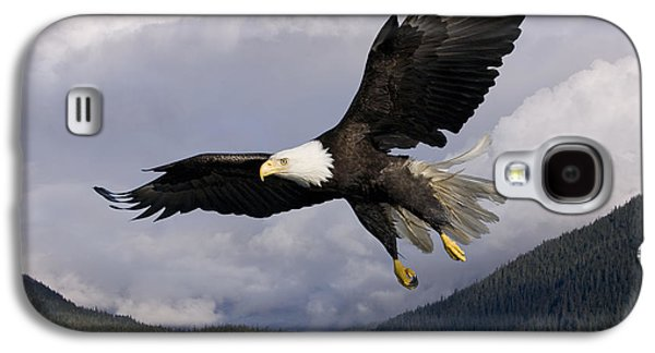 Strong America Galaxy S4 Cases - Eagle Flying in Sunlight Galaxy S4 Case by John Hyde - Printscapes